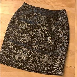Calvin Klein Suit floral silver black skirt